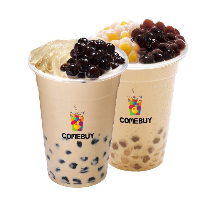 momo購物網與COMEBUY攜手推出開工日限定「滿額送雙Q奶茶」限量好康,共3...