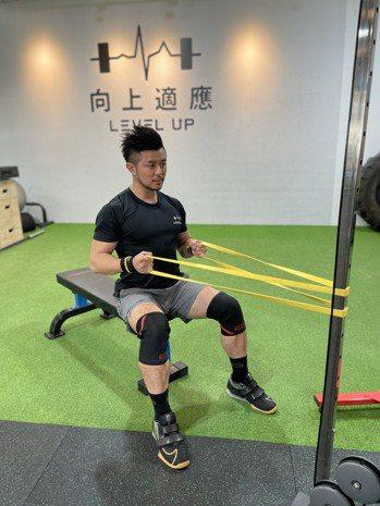 利用彈力帶訓練背肌可以減少背部脂肪堆積。向上適應/提供
