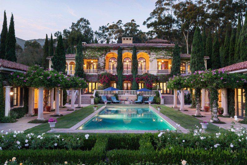 千禧世代资产丰厚,快速成为豪宅市场的主力。图为位于加州Montecito的待售豪宅,占地逾4英亩,开价近1,700万美元。(彭博资讯)(photo:UDN)