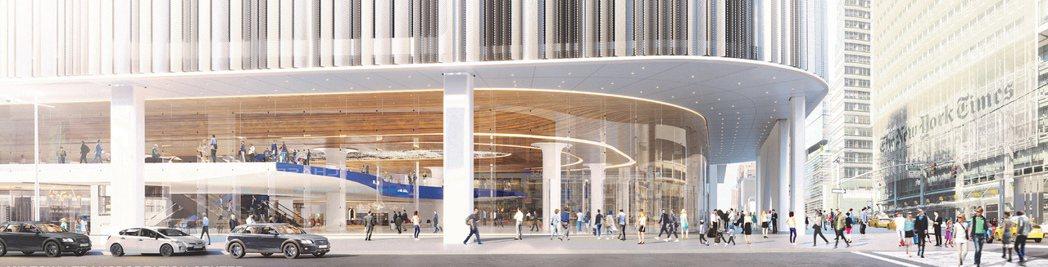 新的紐約公車總站示意圖。(紐約時報)