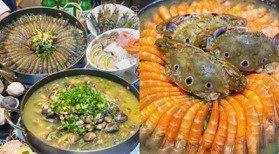 3斤蛤蠣鍋、50隻鮮蝦鋪好鋪滿!南部「海鮮吃到飽」388元起,吃到痛風都甘願