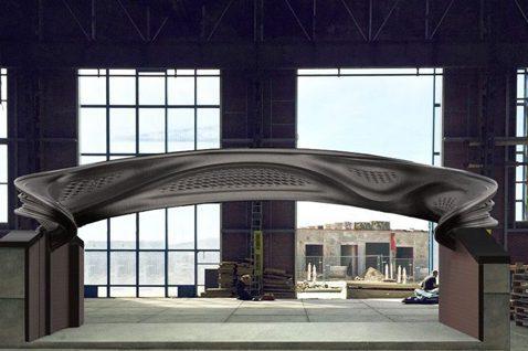 MX3D Bridge是以3D列印科技,打造的行人陸橋。圖/Joris Laar...