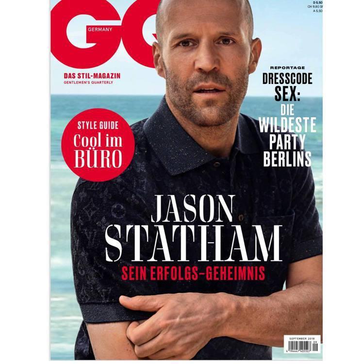 擁有「地表最帥光頭」之稱的好萊塢動作男星傑森史塔森,曾多次登上GQ、Esquir...