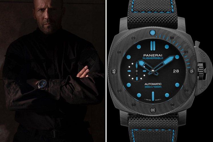 傑森史塔森與沛納海(PANERAI)貼出同張配戴PAM 01616腕表帥照,並以...