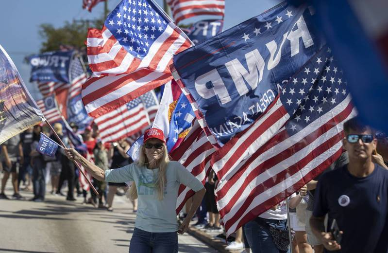 这场挺川集会活动目的为支持「美国最伟大的总统」。法新社(photo:UDN)