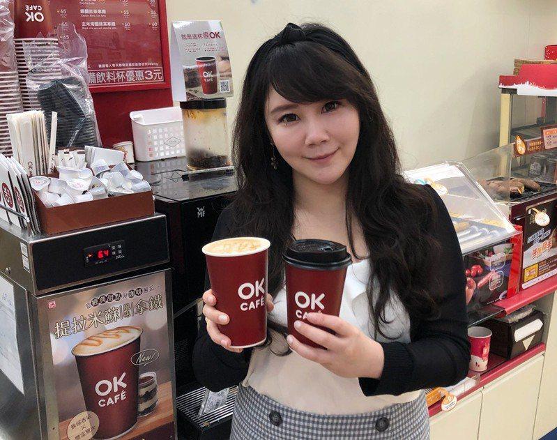2月17日當天OKmart推出開工日限定大杯莊園美式咖啡、莊園拿鐵可享同品項買6杯送6杯。圖/OKmart提供
