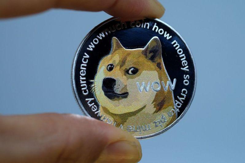 加密貨幣狗狗幣上周價格飆漲,今年至今漲幅一度達到1400%、市值創下91億美元(約新台幣2458億)。圖/取自Economic Times