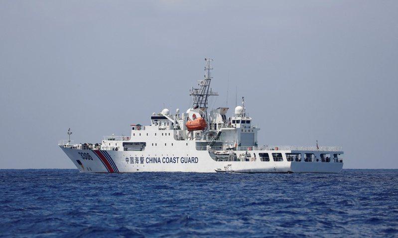 圖為大陸海警船資料照。路透