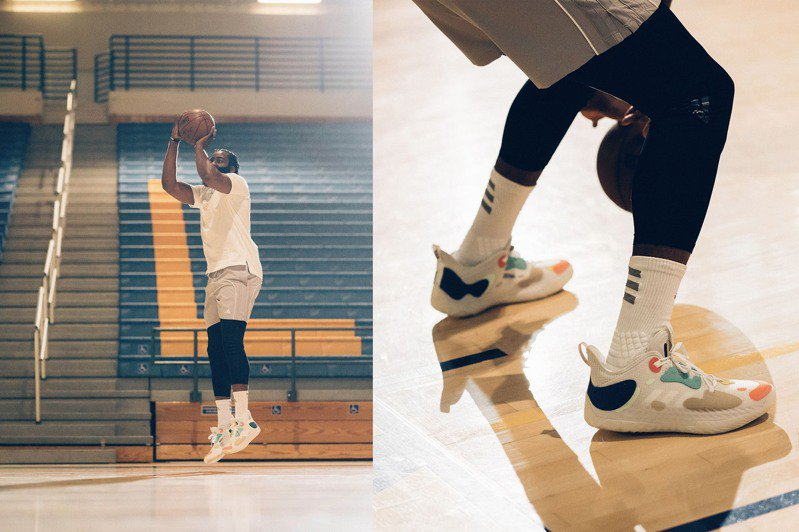 NBA球星James Harden親自詮釋adidas第五代簽名Harden Vol.5籃球鞋。圖/adidas提供