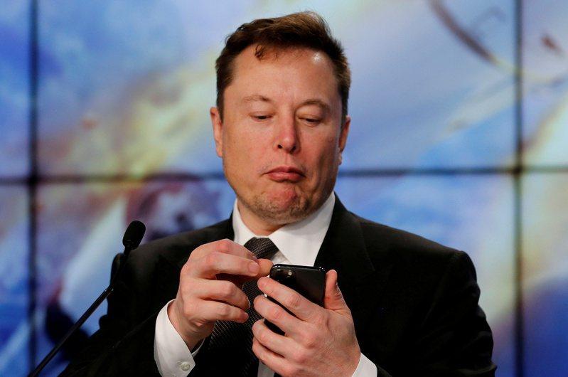 圖為美國電動車大廠特斯拉(Tesla)執行長馬斯克。路透