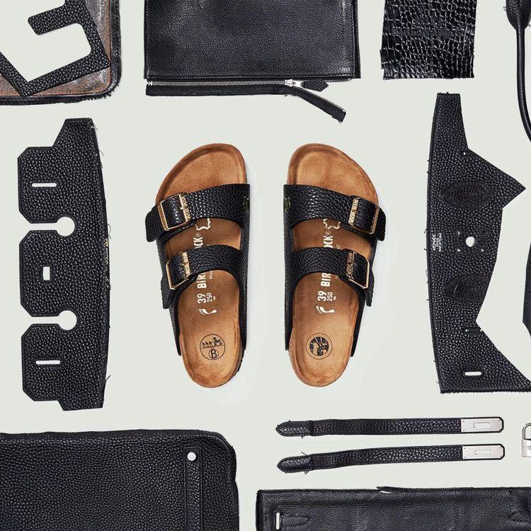 來自紐約布魯克林的創意品牌MSCHF推出用柏金包皮革製成的勃肯鞋「Birkins...