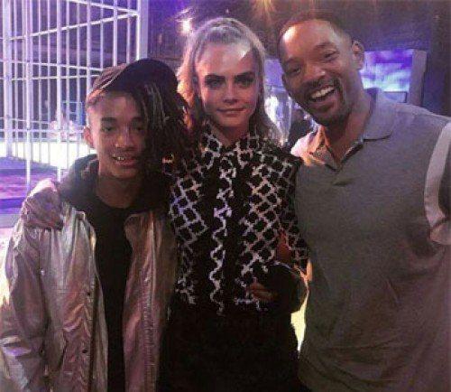 威爾史密斯(右)為兒子傑登(左)、卡拉(中)新片擔任執行製片。圖/摘自IG