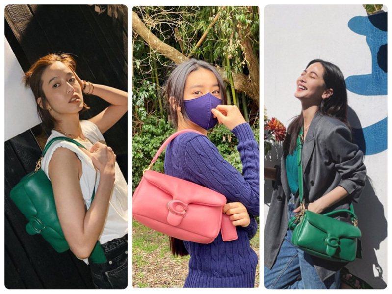 陳庭妮、木村光希、曾之喬選搭Pillow Tabby手袋。圖/取自IG