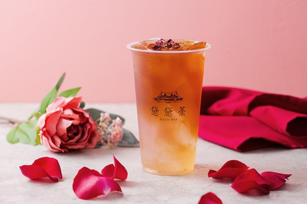 加盟展祭出「招牌丹荔玫瑰公主」飲品特別版免費送活動。黛黛茶DailyDae/提供