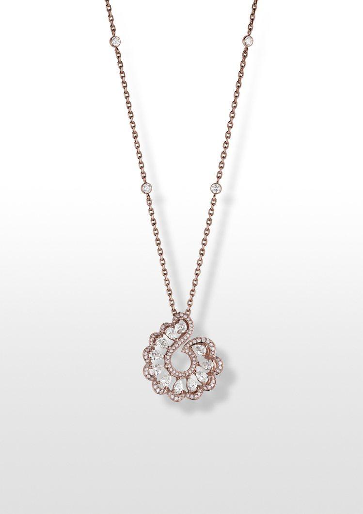 Precious Lace系列Vague海浪項鍊,獲公平採礦認證之18K玫瑰金鑲...