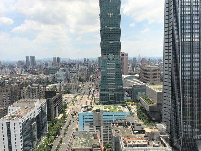 信義計劃區。記者游智文/攝影
