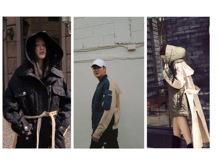 林映唯、周興哲、許路兒詮釋BURBERRY未來經典系列外套、大衣。圖/取自IG