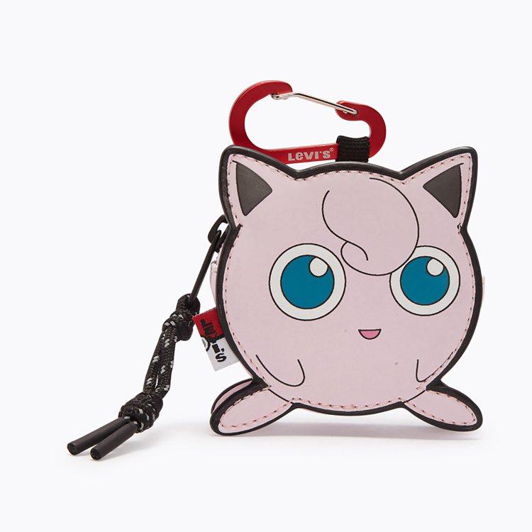 LEVI'S與Pokémon聯名系列胖丁掛飾小包990元。圖/LEVI'S提供