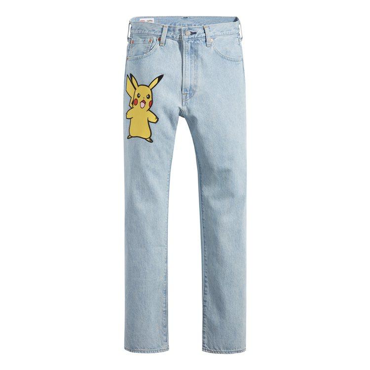 LEVI'S與Pokémon聯名系列551Z原創復刻直筒牛仔褲4,390元。圖/...