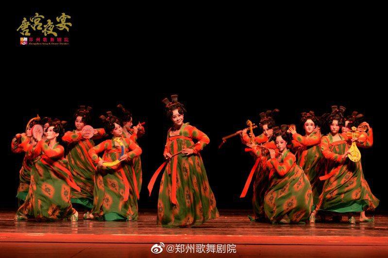 《唐宮夜宴》創作靈感來自博物館的唐俑。圖/取自鄭州歌舞劇院官方微博帳號