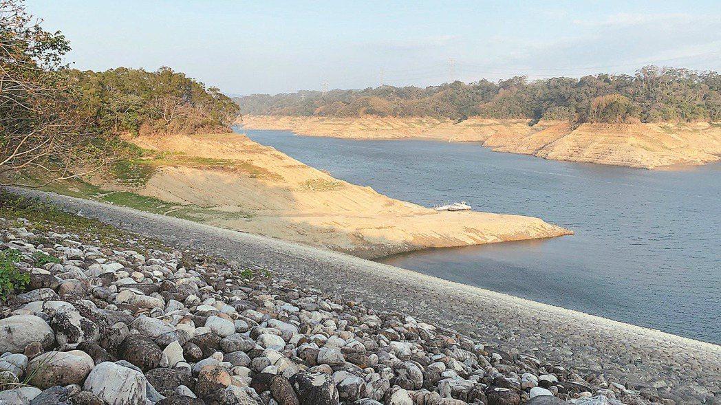 主要供水竹科的新竹寶二水庫蓄水率僅剩16.3%,蓄水量持續下探。記者巫鴻瑋/攝影