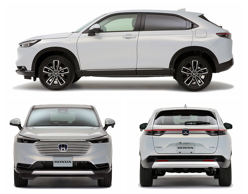 新Honda Vezel融入車身造型中的新式水箱護罩與前保桿造型,創造更前衛且科...