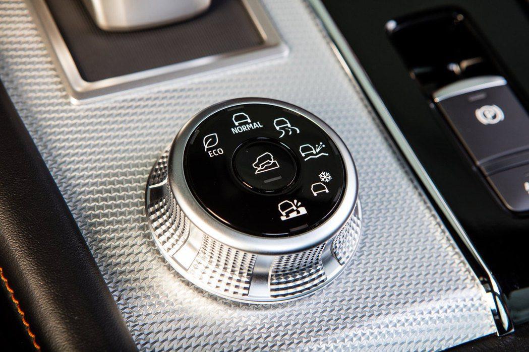 全新Outlander在4WD車型上共有6種駕駛模式選擇。(2WD為5種) 圖/...
