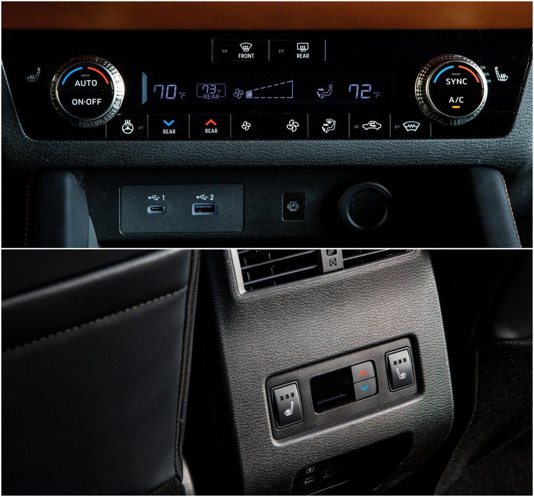 三區恆溫空調也讓Outlander的舒適性加分不少。 圖/Mitsubishi提...