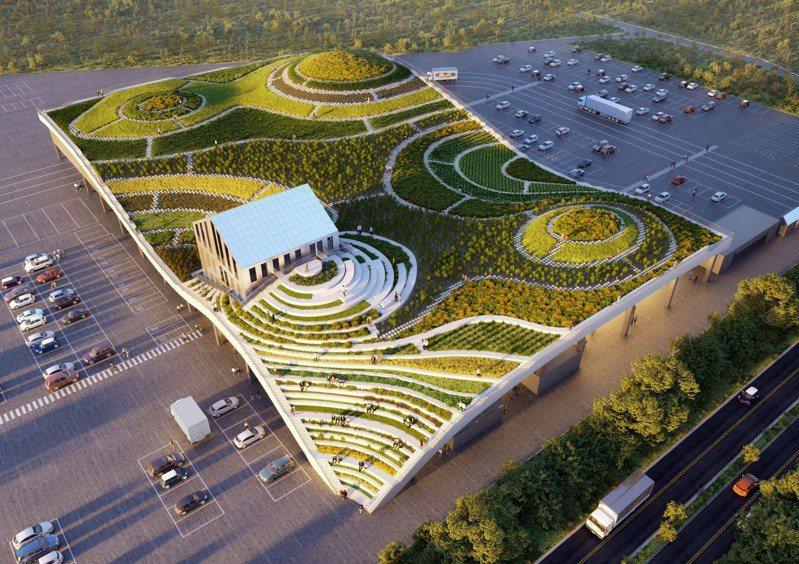 由荷蘭頂尖建築團隊MVRDV搭配LLJ Architects合作操刀全台首座梯田綠建築市場,將於9月於台南新化正式啟用。 圖/荷蘭建築團隊MVRDV官網