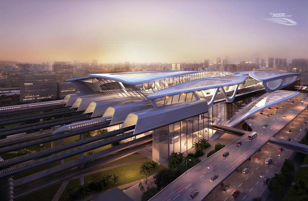 圖為隆新高鐵當時的概念圖片。 圖/HSR高鐵臉書