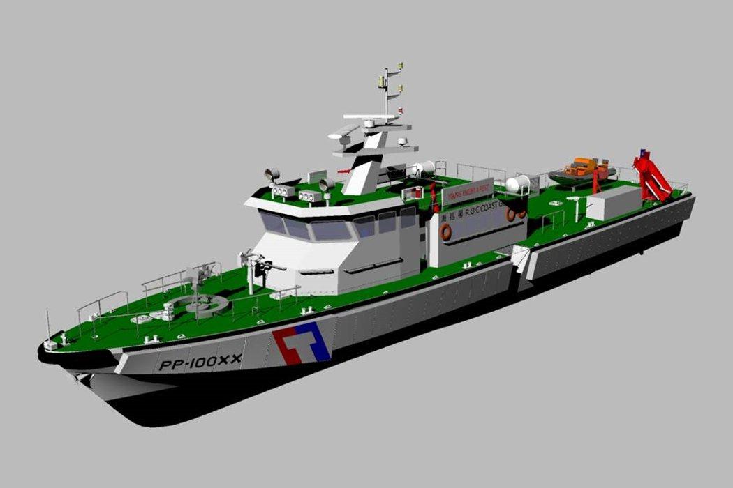 「籌建海巡艦艇發展計畫」新造100噸巡防艇,強化接舷碰撞的防護,噸位增大,可匹敵200噸級鐵殼漁船。 圖/海巡署艦隊分署