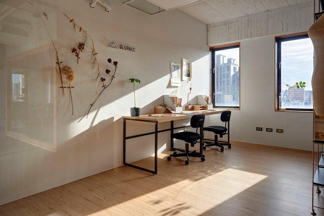 共享辦公室的目的是解決獨立工作者、青創族群在創業初期時的難處。 圖/森Space...