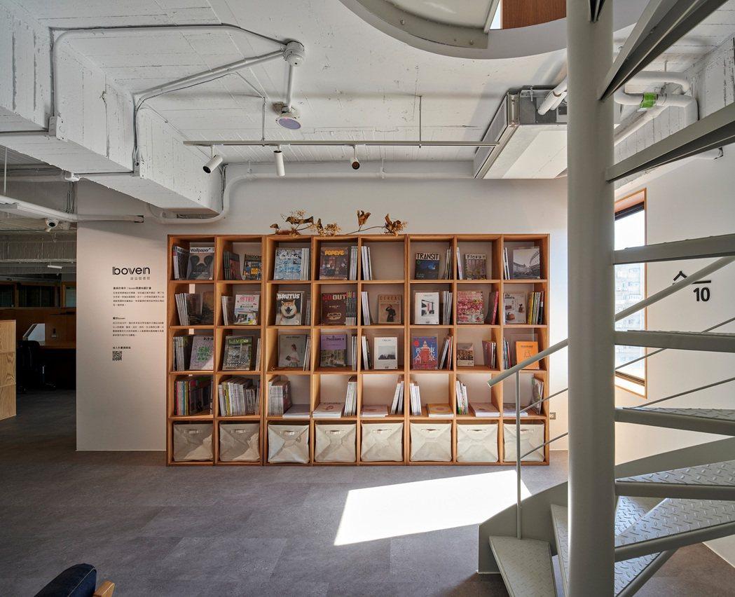 森Space與Boven雜誌圖書館合作,打造閱讀空間。 圖/森Space提供