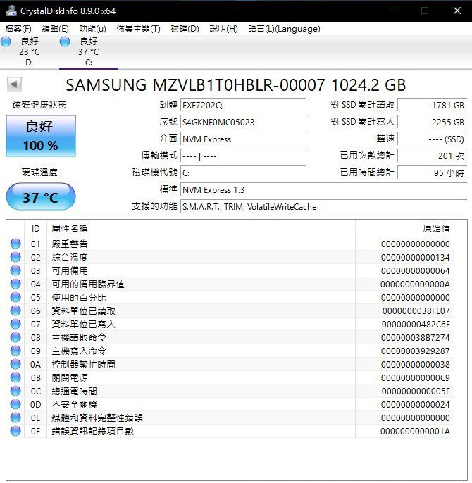 Predator Helios 700採三星高階M.2 SSD做為系統碟。 彭子...
