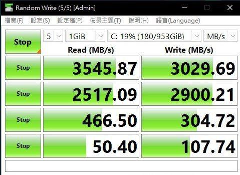 三星高階M.2 SSD讀寫表現不俗。 彭子豪/攝影