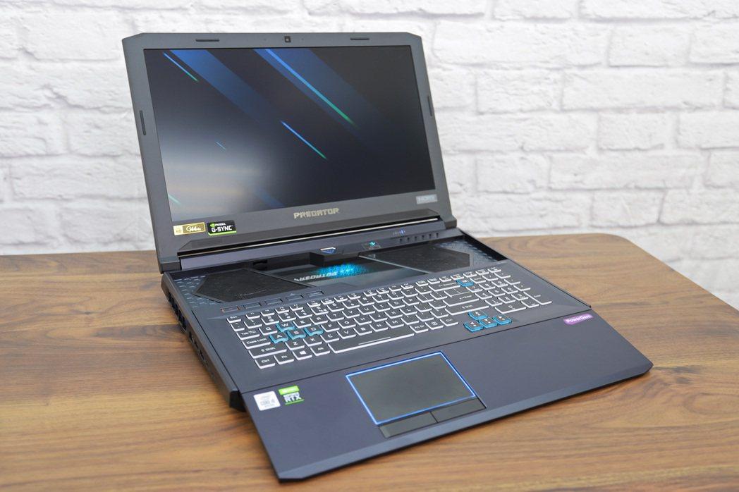Predator Helios 700採用宏碁獨家HyperDrift滑動式鍵盤...