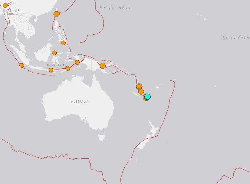 地震 南 太平洋