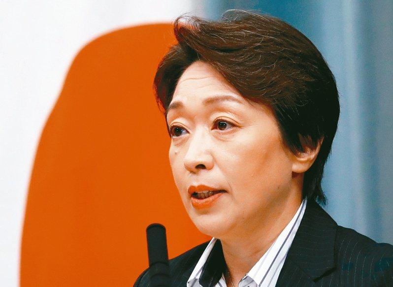 日本奧運大臣橋本聖子接任東奧組委會會長職務。(路透)