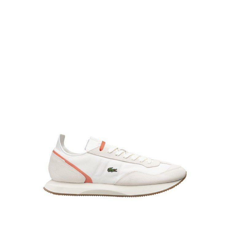 LACOSTE Match Break粉色線條拼接球鞋,4,680元。圖/LAC...