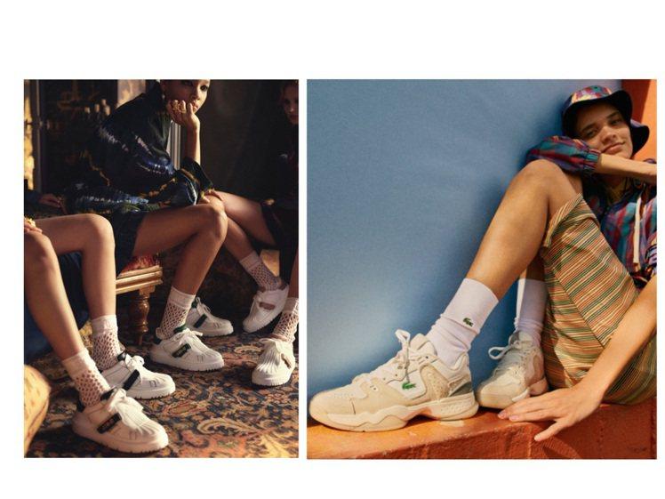 DIOR和LACOSTE分別推出全新的休閒鞋系列。圖/DIOR、LACOSTE提...