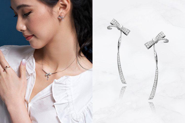 林曉同小公主系列推出適合日常配戴的簡約新品。圖/林曉同珠寶提供