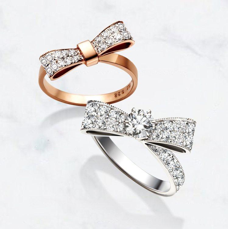 小公主戒指,價格店洽。圖/林曉同珠寶提供