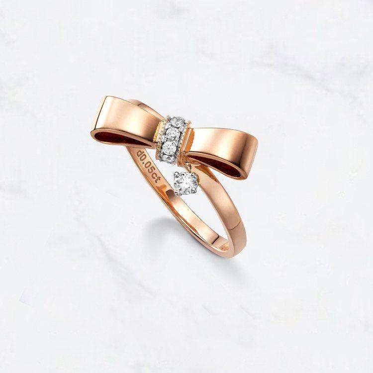 小小公主戒指,35,800元。圖/林曉同珠寶提供