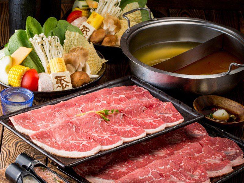 「聚北海道昆布鍋」去年底大動作進行品牌轉型,改以主題火鍋加上自助吧為特色。圖/王品提供