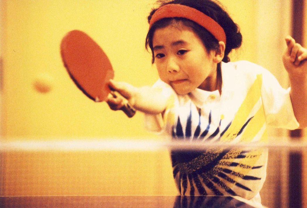 福原愛自3歲就開始打桌球。圖/華研提供