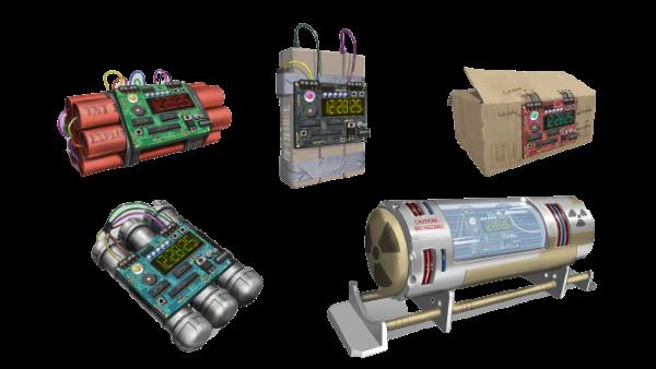 遊戲中有不同類型的炸彈等著玩家挑戰。