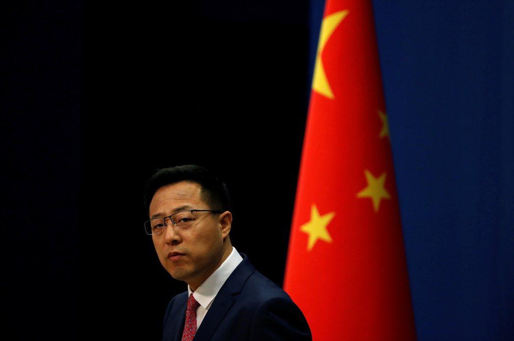 中國現任外交部新聞司副司長兼發言人趙立堅。 圖/路透社