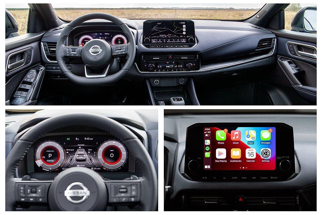 第三代Nissan Qashqai導入新式多功能平底方向盤、新造型排檔桿等設計,...