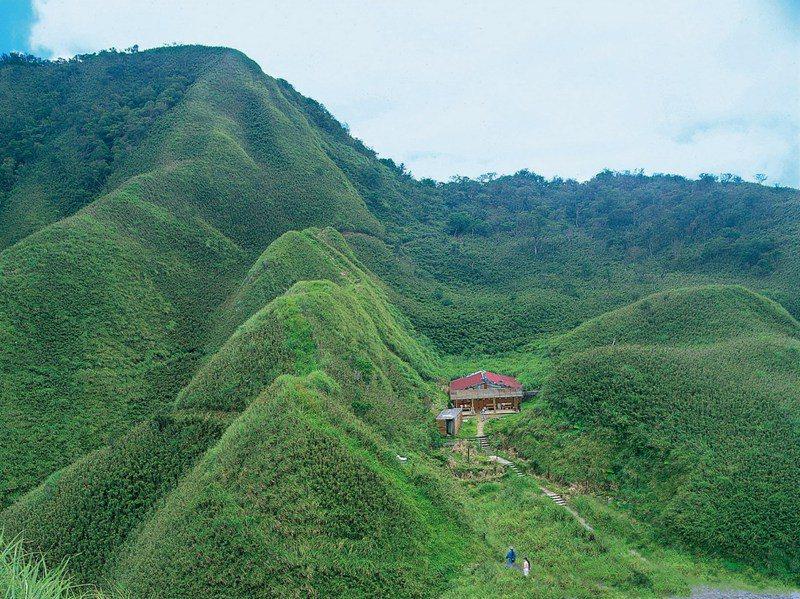 宜蘭「抹茶山」近年爆紅,成為遊客爬山朝聖的熱門景點。 圖/羅東林管處提供。