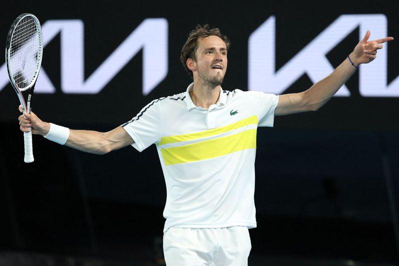 俄羅斯梅達維夫打進澳網男單決賽。 法新社